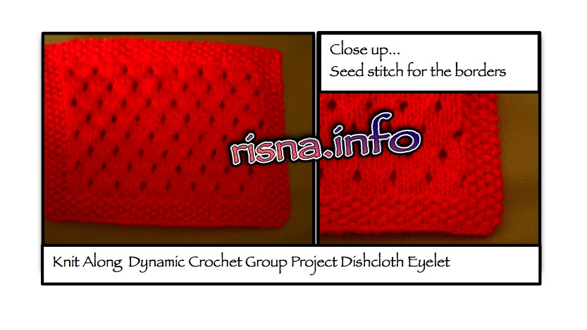 Dishcloth Motif Eyelet